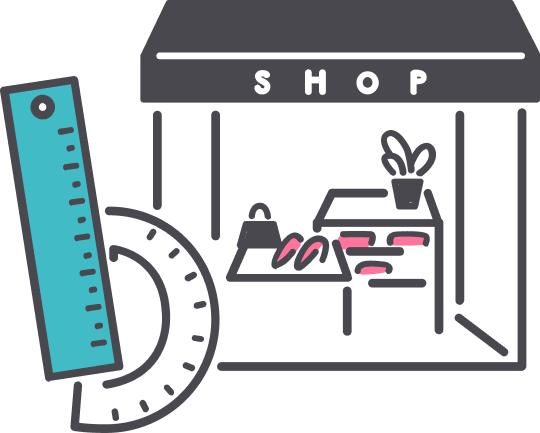 """商業空間のデザイン提案から<br class=""""pc"""">物販店舗向けの商品陳列什器の製作まで柔軟に対応"""